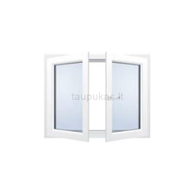 Dviejų varčių langas be pertvaros