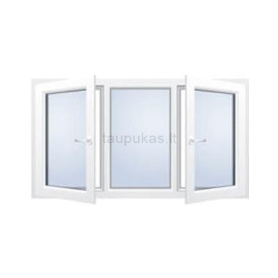 Atidaromas trijų dalių dviejų varčių langas