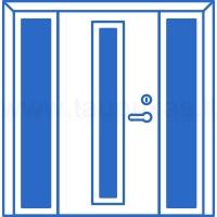 Lauko durys su dvejomis šoninėmis dalimis