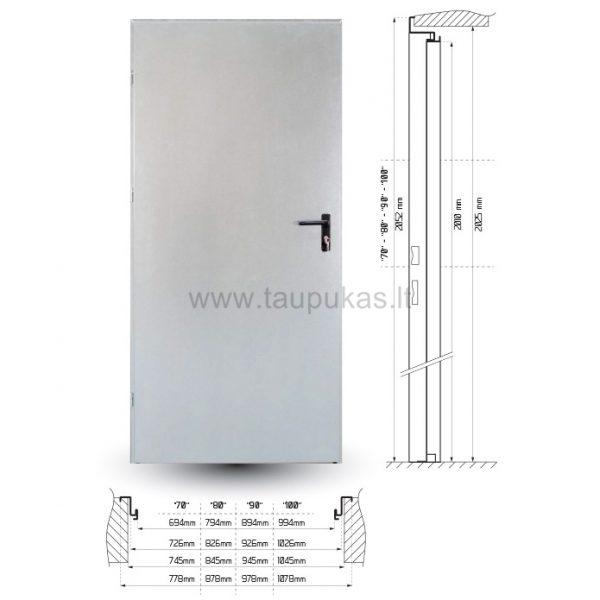 Metalinės vidaus durys – matmenys