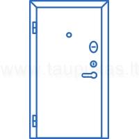 Standartinės šarvuotos durys