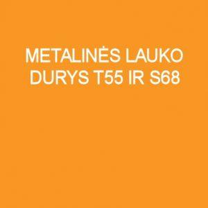 Metalinės lauko durys T55 ir S68